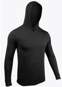 2UNDR LONG SLEEVE HOODED SHIRT