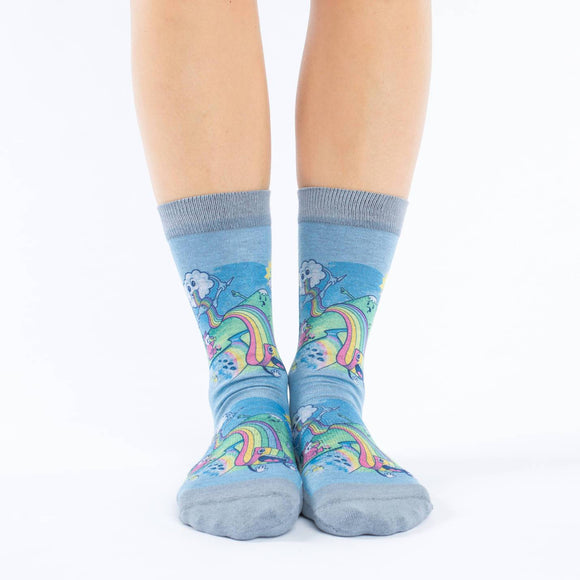 GOOD LUCK SOCK EATING RAINBOW PASTA ACTIVE CREW WOMENS 5-9
