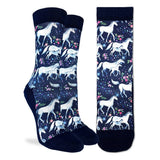 GOOD LUCK SOCK UNICORN FAMILY ACTIVE SOCKS WOMENS 5-9