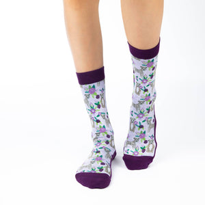 GOOD LUCK SOCK FLORAL PITBULL ACTIVE SOCKS WOMEN'S 5-9