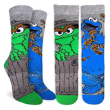 GOOD LUCK SOCK OSCAR AND COOKIE MONSTER ACTIVE SOCKS WOMEN'S 5-9