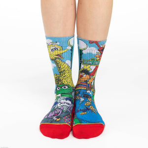 GOOD LUCK SOCK SESAME STREET FAMILY ACTIVE SOCKS WOMEN'S 5-9