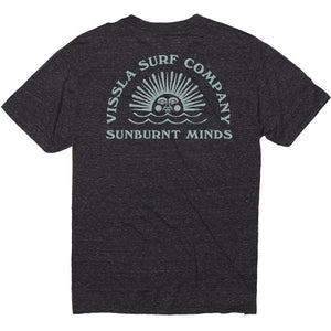 VISSLA TEMPLE OF RA TEE BLACK HEATHER