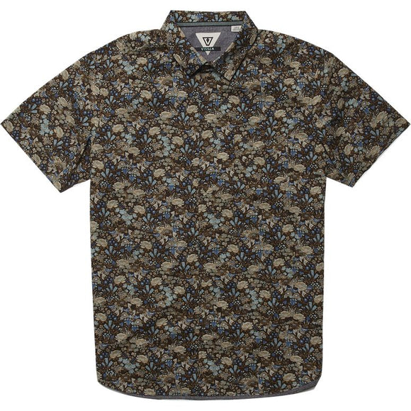 VISSLA RADICAL ROOTS SHORT SLEEVE SHIRT ECO JAVA