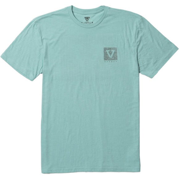 VISSLA OUTSIDER TEE JADE HEATHER