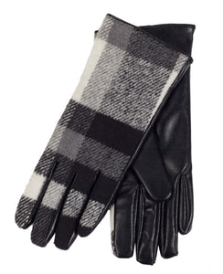 DKR & CO PLAID GLOVES WITH FAUX FUR LINING
