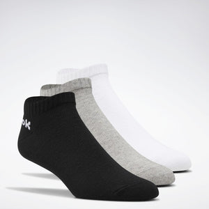 REEBOK ACTIVE CORE LOW CUT SOCKS 6 PACK GREY/WHITE/BLACK