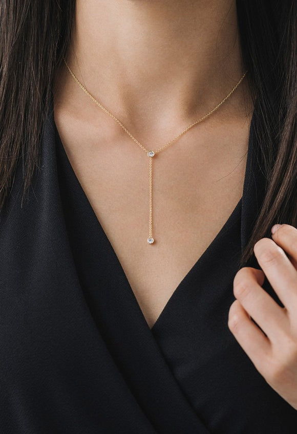LOVER'S TEMPO DUET LARIAT NECKLACE