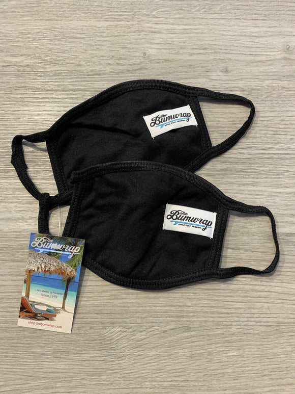 THE BUMWRAP 2PACK COTTON FACEMASK LOGO TAG