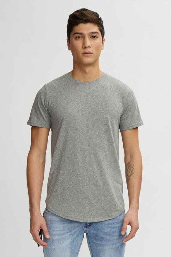 KUWALLA TEE EAZY SCOOP TEE HEATHER GREY