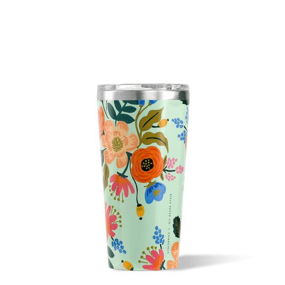 CORKCICLE TUMBLER 16OZ RIFLE PAPER GLOSS CREAM LIVELY FLORAL