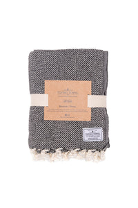 TOFINO TOWEL THE PACIFICA THROW BLANKET BLACK