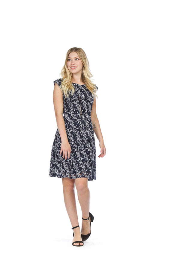 PAPILLON DOT & FLORAL LACE DRESS