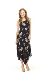 PAPILLON FLORAL LAYERED DRESS