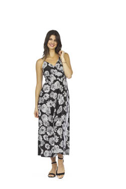 PAPILLON FLORAL SATIN FEEL MAXI DRESS