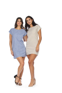 PAPILLON STRIPED COTTON DRESS