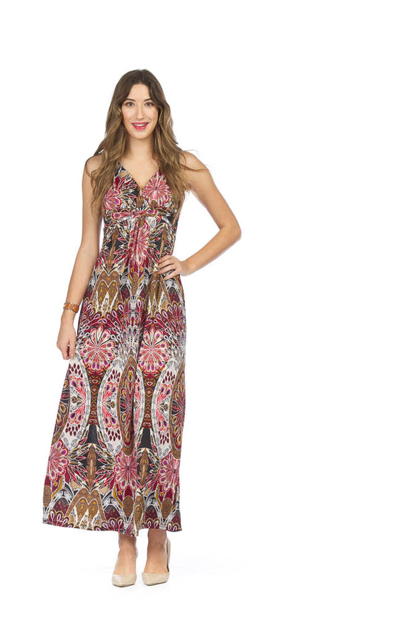 PAPILLON TEXTURED PRINT MAXI DRESS