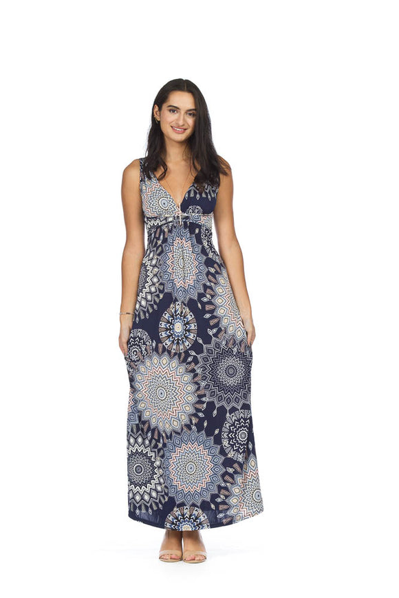 PAPILLON MEDALLION PRINT MAXI DRESS