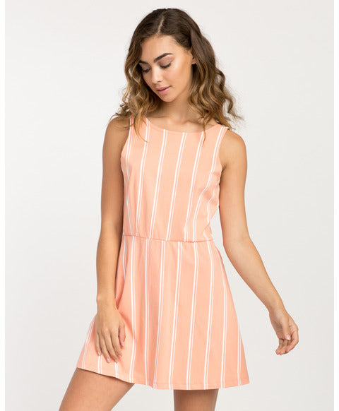 RVCA PEONY STRIPED DRESS