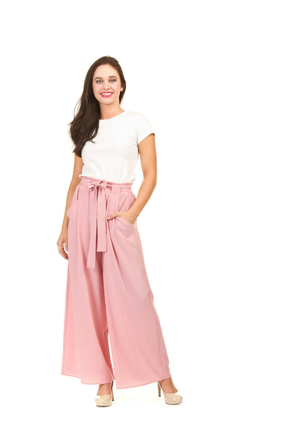 PAPILLON CREPE WIDE LEG PANTS