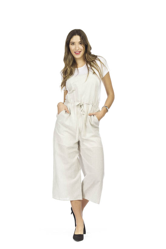 PAPILLON LINEN STRIPED JUMPSUIT