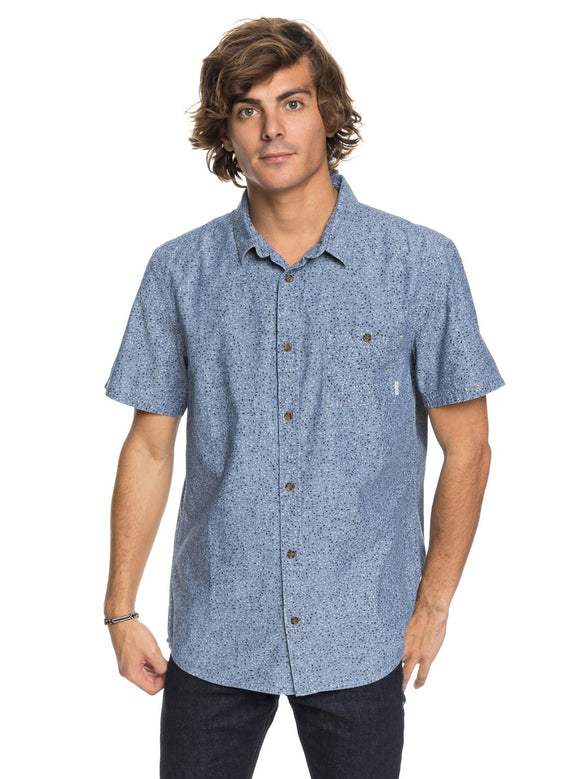 QUIKSILVER PRINTED CHAMBRAY SS