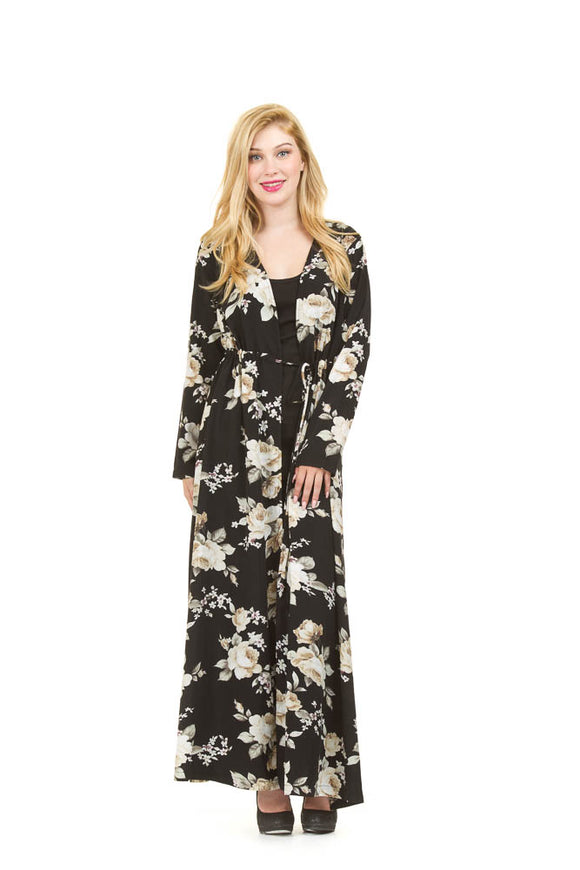 PAPILLON LONG FLORAL COVER UP