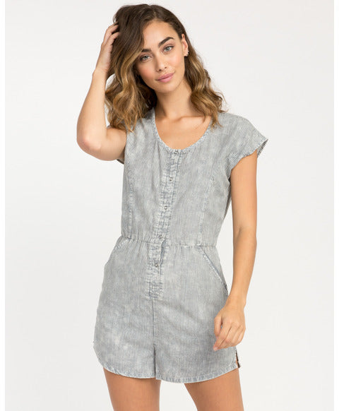 RVCA RAILWAY STRIPED ROMPER