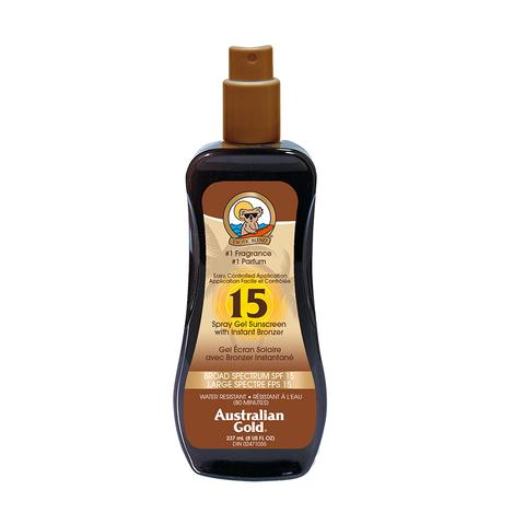 AUSTRALIAN GOLD SPRAY GEL W/ BRONZER SPF15