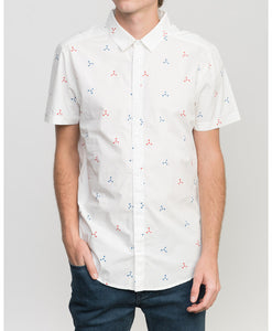 RVCA TRIDOT SS BUTTON UP SHIRT