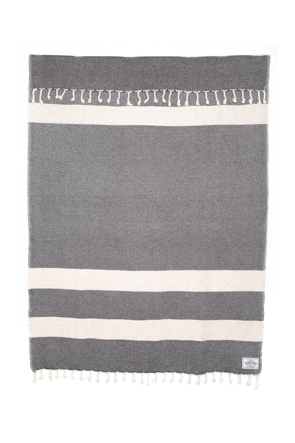 TOFINO TOWEL THE NEST THROW BLANKET SHADOW/MARBLE