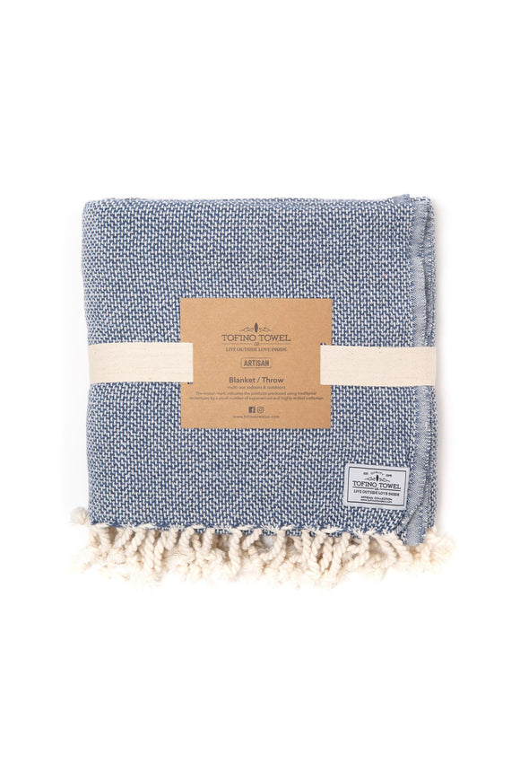 TOFINO TOWEL THE PACIFICA THROW BLANKET BLUE