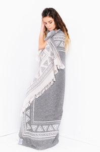 TOFINO TOWEL THE FRONTIER THROW BLANKET GREY
