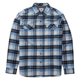 VISSLA CENTRAL COAST FLANNEL BLUE WASH