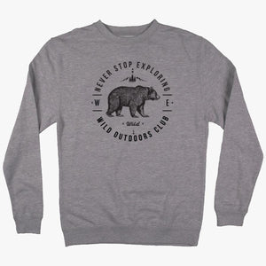 WILD OUTDOORS NEVER STOP EXPLORING CREW SWEATSHIRT