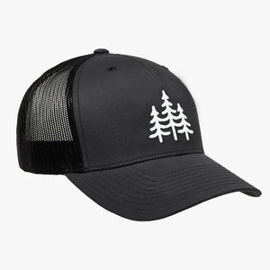 WILD OUTDOORS PINES EMBROIDERED TRUCKER GREY/BLACK