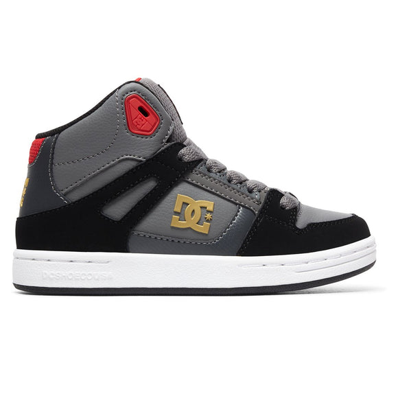 DC PURE HIGH TOP YOUTH SHOE