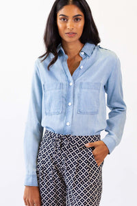 PINK MARTINI BLUE JEANS TOP