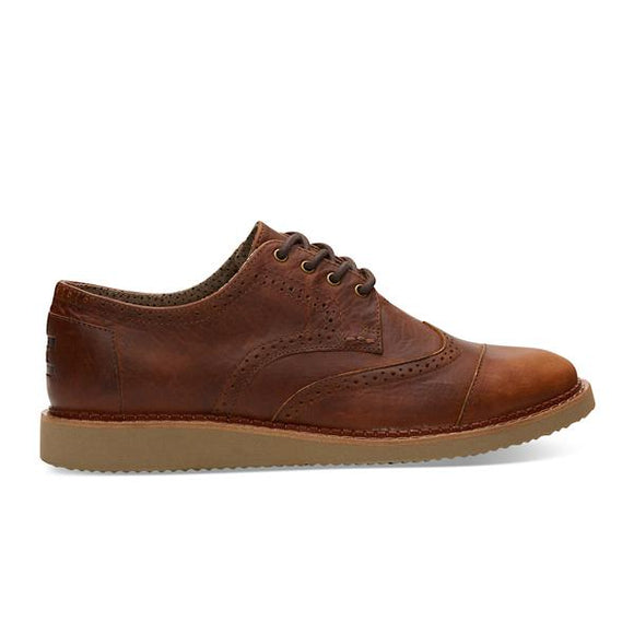 TOMS BROGUE LEATHER MENS