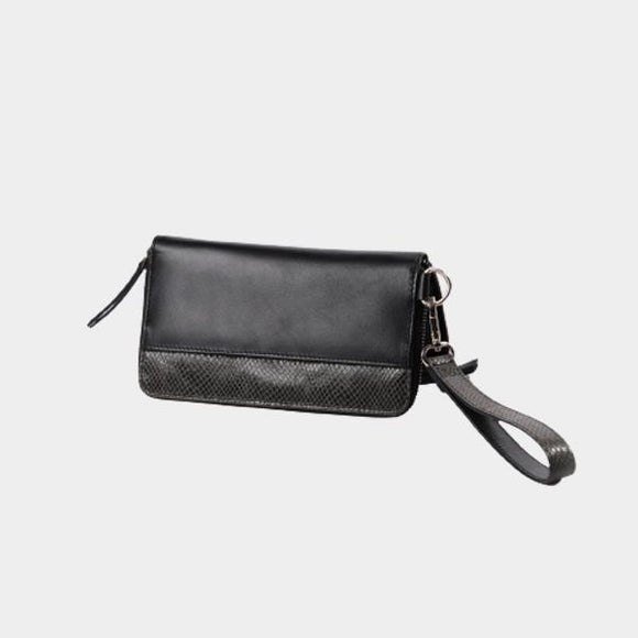 RISA THREE FOLD WALLET BLACK