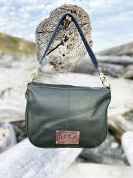 RISA THE ARIA CROSSBODY HANDBAG HUNTER GREEN LEATHER
