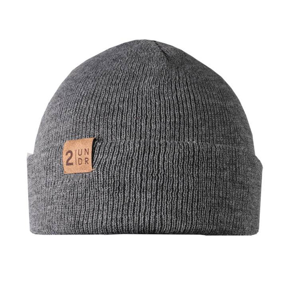 2UNDR DUO BEANIE LIGHT HEATHER GREY