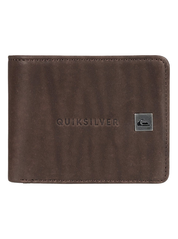 QUIKSILVER MACK BIFOLD LEATHER WALLET