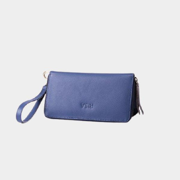 RISA THREE FOLD WALLET BLUE