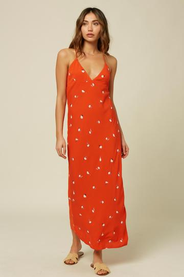 O'NEILL IZZY DRESS RED CLAY