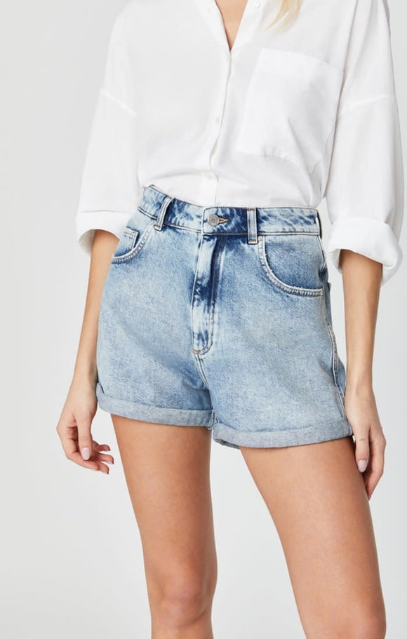 MAVI CLARA LIGHT RANDOM 90'S DENIM SHORTS