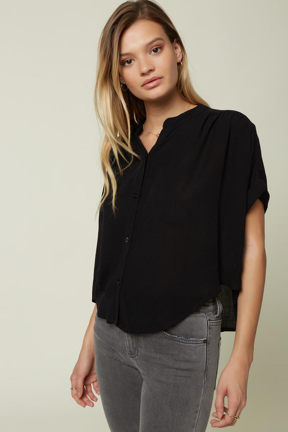 O'NEILL SHELLEY WOVEN BLOUSE BLACK