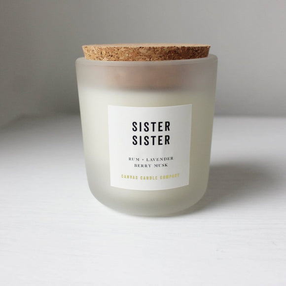 CANVAS CANDLE CO. SIGANTURE SISTER SISTER CANDLE