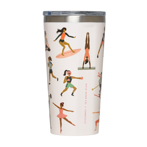 CORKCICLE RIFLE PAPER TUMBLER 16OZ SPORTS GIRLS