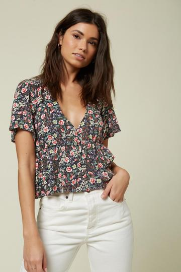 O'NEILL WES FLORAL WOVEN TOP ABYSS